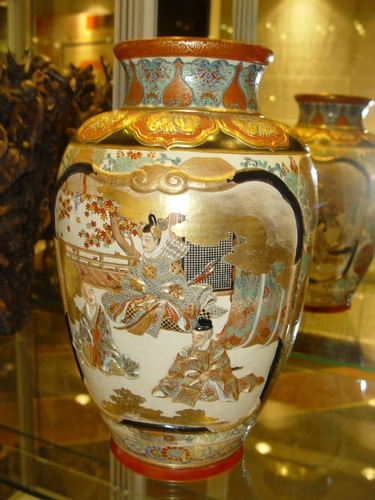 A large japanese vase, top quality, meiji
